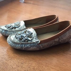 Donald J Pliner jewelled loafers